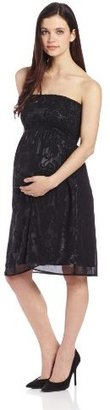 Jules & Jim Women's Maternity Strapless Smock Dress