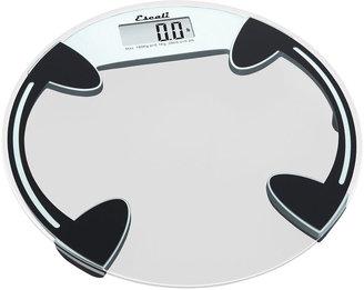 Escali Round Glass Bathroom Digital Scale B18ORC