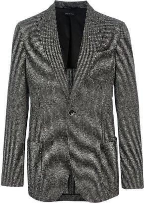 Giorgio Armani tweed single button blazer