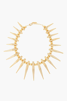Giuseppe Zanotti Gold Fang studded Necklace