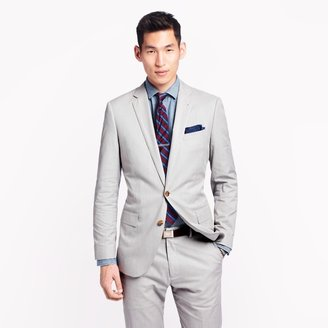 J.Crew Ludlow suit jacket with center vent in fine-stripe cotton