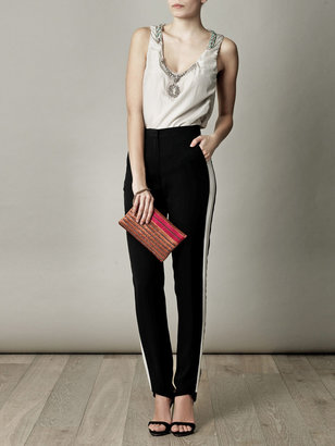 Lanvin Exposed zip embellished clutch