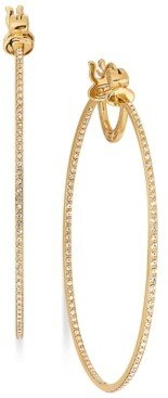 Simone I. Smith 18K Gold over Sterling Silver Earrings, Eternal Love-In-and-Out Crystal Hoop Earrings