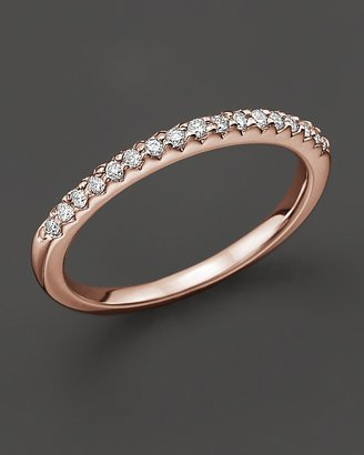 Bloomingdale's Diamond Micro-Pave Ring in 14 Kt. Rose Gold, 0.15 ct. t.w.