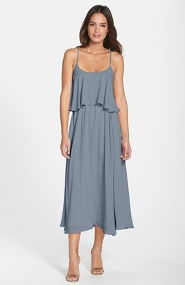 Paper Crown by Lauren Conrad 'Britton' Ruffled Tea Length Crepe Dress $275 thestylecure.com