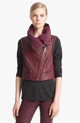 Yigal Azrou?l Azrouël Lambskin Leather Moto Jacket