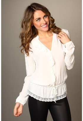 D.E.P.T Flowy Viscose Blouse (Whisper White) - Apparel