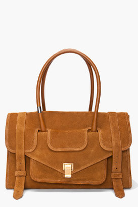 Proenza Schouler PS1 Small Tobacco Brown Suede Keep All Tote
