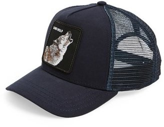 Men's Goorin Brothers 'Animal Farm - Wolf' Trucker Cap - Blue $30 thestylecure.com