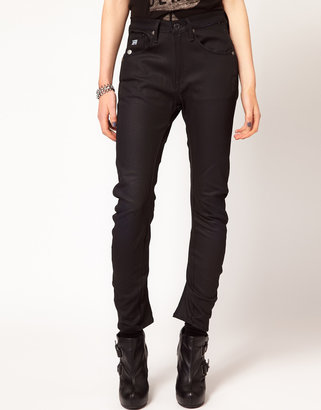 G Star G-Star Arc 3d Tapered Coated Skinny Jeans