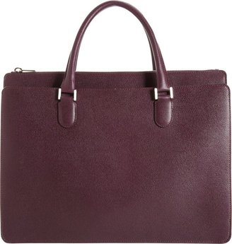 Valextra Madison Working Bag-Purple
