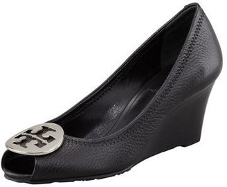 Tory Burch Sally 2 Leather Wedge Pump $265 thestylecure.com