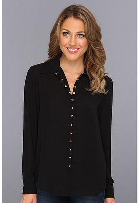 Vince Camuto Stud Snap Long Sleeve Blouse