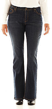 JCPenney a.n.a Thickstitch Bootcut Jeans - Plus