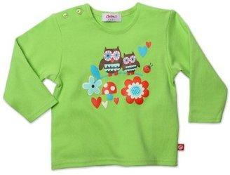 Zutano Baby-Girls Infant Penny Owl Screen Long Sleeve T-Shirt