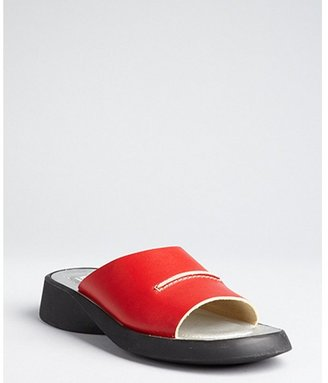 Hogan red leather slip-on sandals