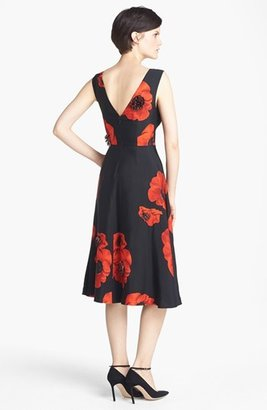 Tracy Reese Embellished Floral Print Snake Jacquard Frock
