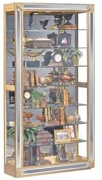 Philip Reinisch Co. Reflection Lighted Curio Cabinet Philip Reinisch Co.