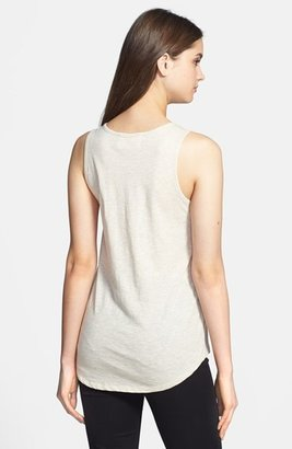 Vince Camuto Two by Embellished Neckline Cotton Tank