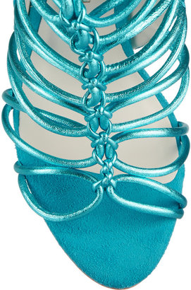 Webster Sophia Lacey metallic leather sandals