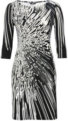 M&Co Petite fireburst slash neck dress