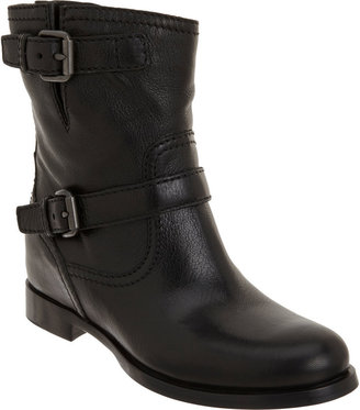 Prada Wedge Moto Ankle Boot