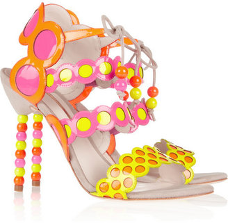 Webster Sophia Yayoi patent-leather and suede sandals