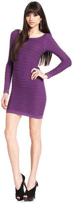 BCBGeneration Dress, Long-Sleeve Scoop-Neck Body-Con Cutout Mini