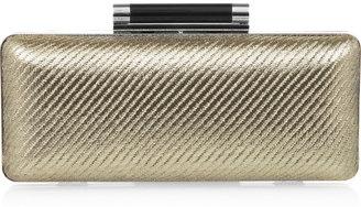 Diane von Furstenberg Tonda metallic twill and leather clutch