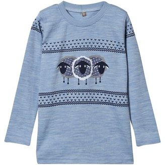 Hust&Claire Blue Sheep Print Top