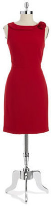Ivanka Trump Rose Detailed Sleeveless Dress