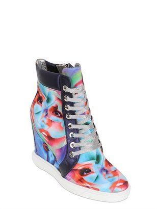 Gianmarco Lorenzi 100mm Surrealism Wedged Silk Sneakers
