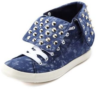 Charlotte Russe c.t.t.c. Studded Canvas Lace-Up Sneaker