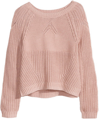 H&M Knit Sweater - Dusty pink - Ladies