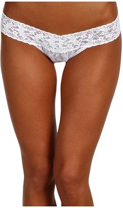 Hanky Panky Bride Low Rise Bridal Thong (White/Clear) Women's Underwear