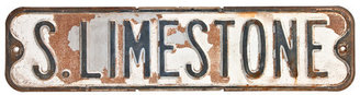 Relique Metal Street Sign S Limestone I