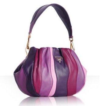 Prada violet lambskin 'Stripes' small bag