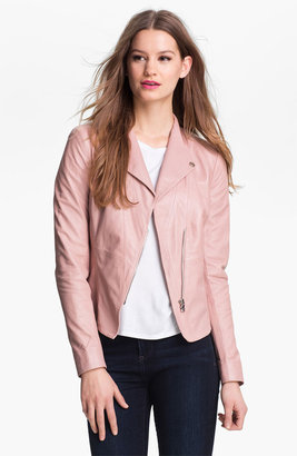 Kenneth Cole New York 'Lilian' Leather Jacket