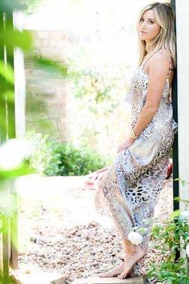 Blu Moon Summer Lovin' Maxi Dress in White Leopard $319 thestylecure.com