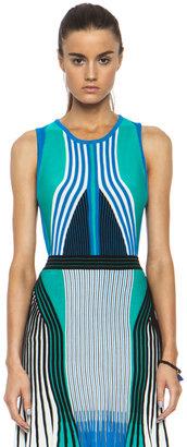 Ohne Titel Suspension Knit Tank in Blue Combo