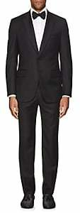 Isaia Men's Gregory Aquaspider Wool Two-Button Tuxedo-Black