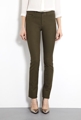 Joseph Khaki Nino Gabardine Stretch Skinny Trousers