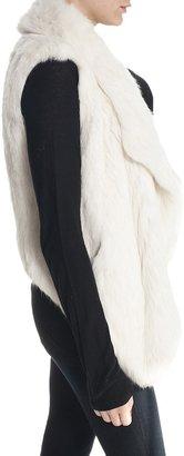 JUNE Fur Vest Black