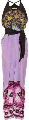 Etro Floral-print silk-crepe maxi dress