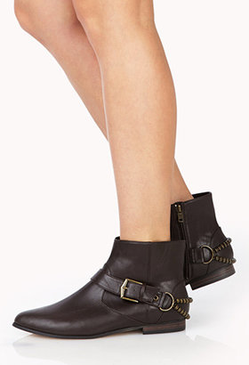 Forever 21 Runaround Chained Booties