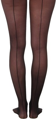 Wolford Individual 10 Back Seam Tights (Black) - Hosiery
