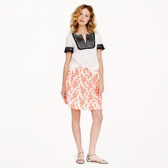 J.Crew Collection embroidered neon floral skirt