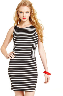 Monroe Marilyn Juniors' Sleeveless Striped Dress