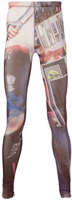 L_A_N Label Digital Print Leggings