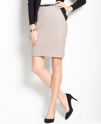 Ann Taylor Shimmery Knit Pencil Skirt